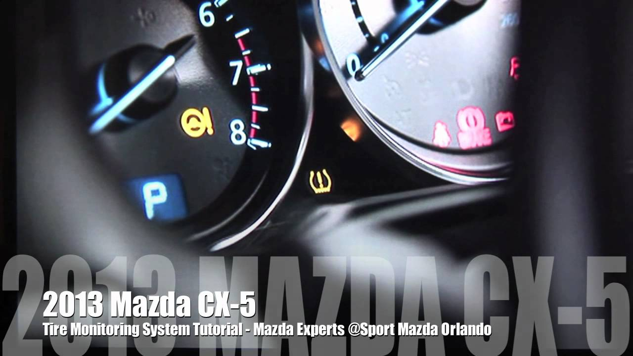 2013 Mazda Cx 5 Tire Monitoring System Tutorial Youtube