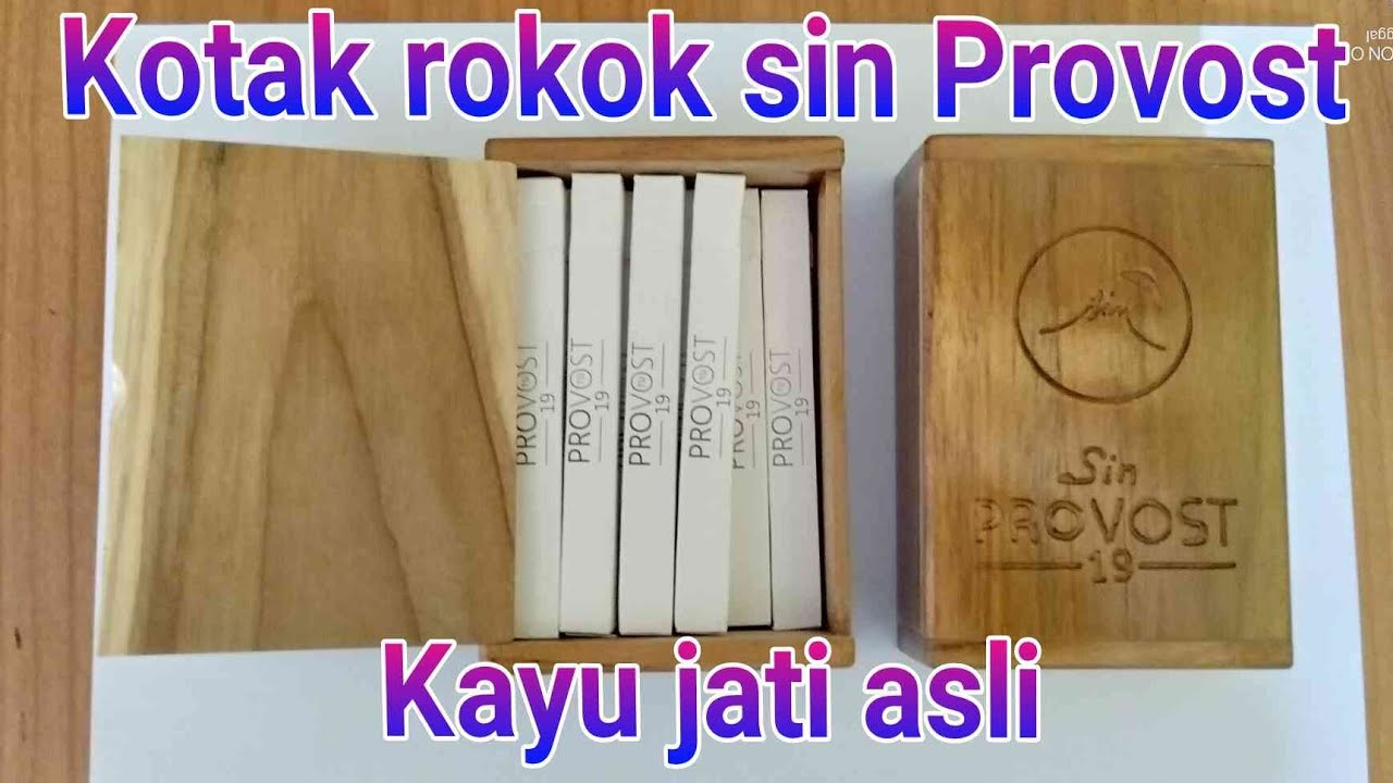 "Kotak rokok sin Provost dari kayu jati""Tempat rokok sin ..."