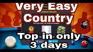 8 ball pool low winning country Top in only 3days   Sheraz 8bp