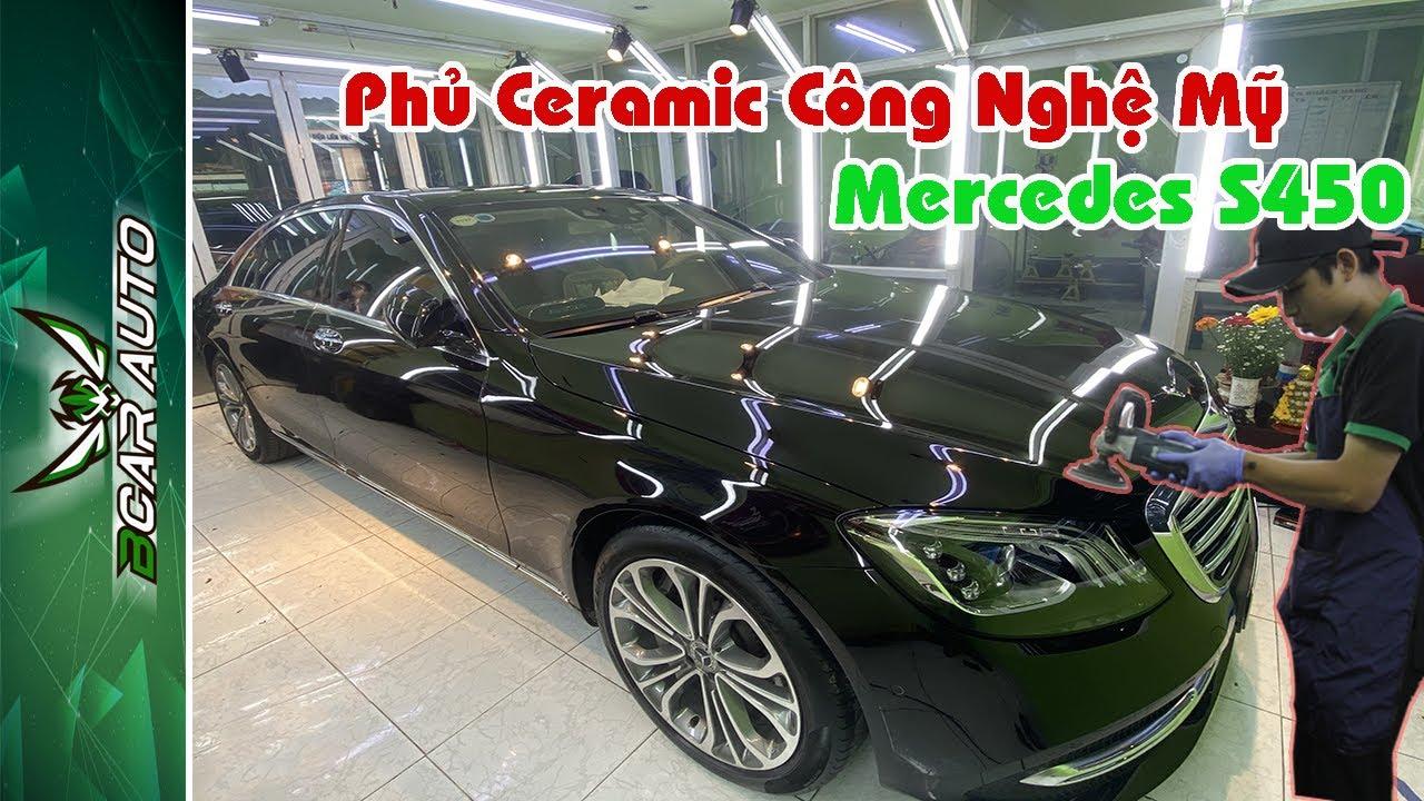 Phủ Ceramic Công Nghệ Mỹ Cực Chuẩn Mercedes S 450 Tại Bcar Auto Center