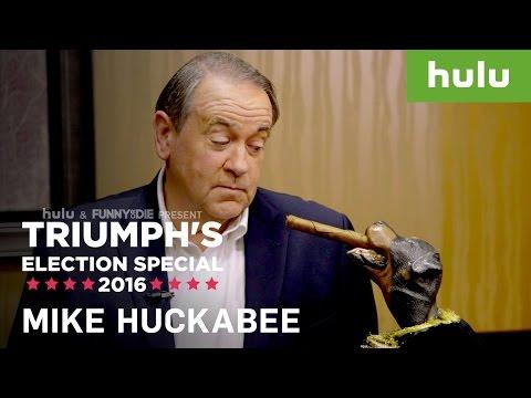 Triumph the Insult Comic Dog Mentors Mike Huckabee • Triumph on Hulu