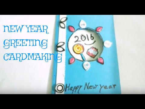 diy new year cardmakinghappy new year 2016 greeting card making idea