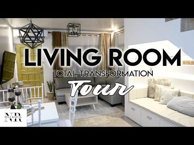 OUR ULTIMATE LIVING ROOM TRANSFORMATION/MAKEOVER TOUR! ( ANG BONGGA!! ) | Nina Rayos 💋