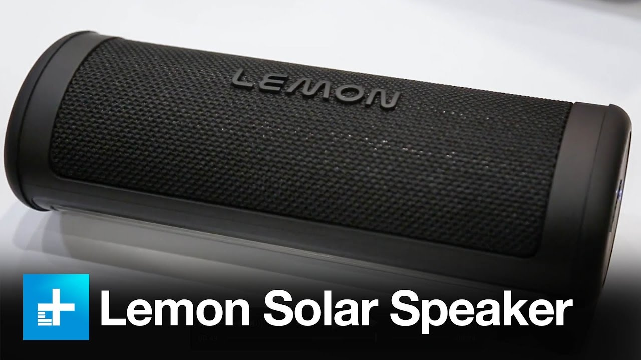 fun unique bluetooth speakers. Lemon s new Bluetooth speaker harnesses the sun for off grid fun