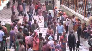Celebrating Holi Festival in Vrindavana India, by Stephen Knapp