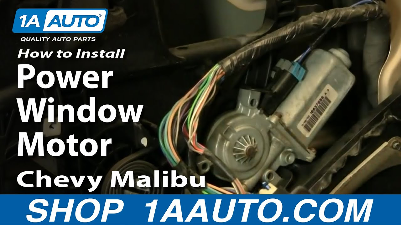 How to Replace Power Window Motor 97-03 Chevy Malibu