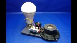 220v light bulb , Free Energy with speaker Magnet , Work 100%