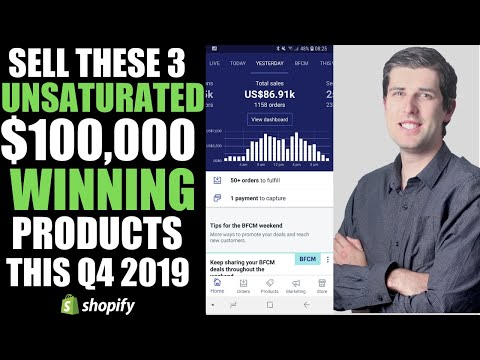 Shopify Dropshipping: 3 Winning Products To Sell In Q4 And Make $100,000 Today 2019