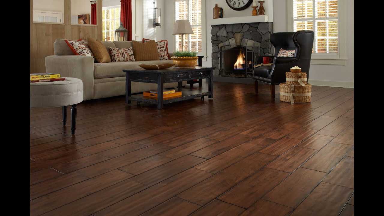 Handscraped Hardwood Flooring | Lumber Liquidators   YouTube