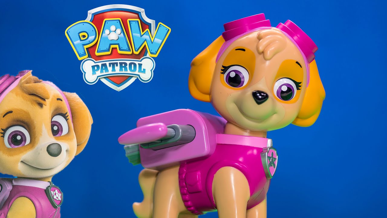 Unboxing The Paw Patrol Jumbo Skye With Marshall Toys