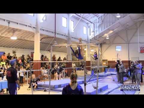 Highlights Of International Gymnastics Meet Jan 12 2013