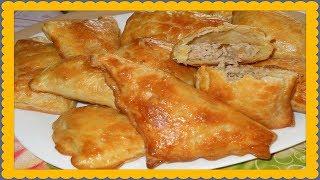 Пирожки с мясом и рисом в духовке!