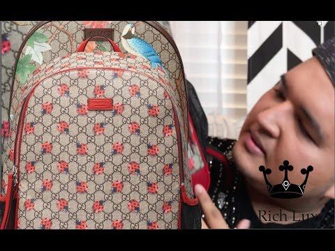 bb1c5f64b46b Gucci Backpack Unboxing - YouTube