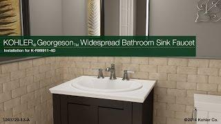installation georgeson widespread bathroom sink faucet