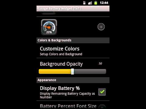 Gauge Battery Widget for Android phones - Introduction Video