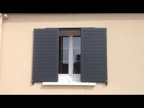 test ouverture fermeture volets coulissants alu youtube. Black Bedroom Furniture Sets. Home Design Ideas