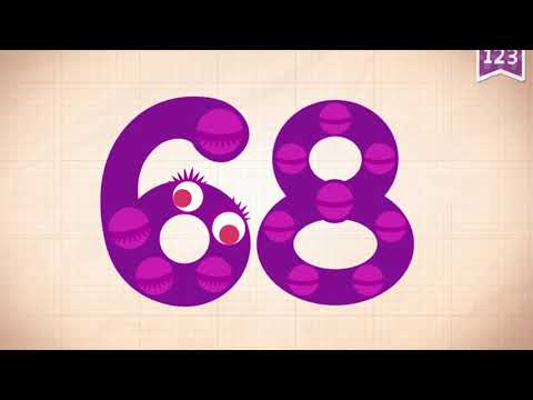 Learn Number 68 In English & Counting, Math By Endless Numbers   Kids Video