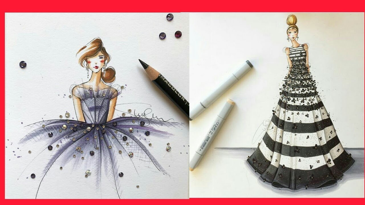 Best Drawings Pictures And Creative Ideas For Beginners Drawing Ideas Best Fashion Design Pictures Youtube
