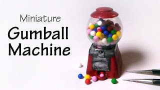 Cute Miniature (Working) Gumball Machine - Polymer Clay Tutorial