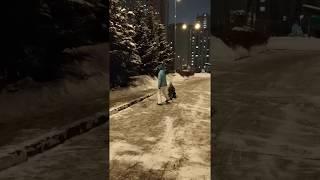 Дрифт на снегокате