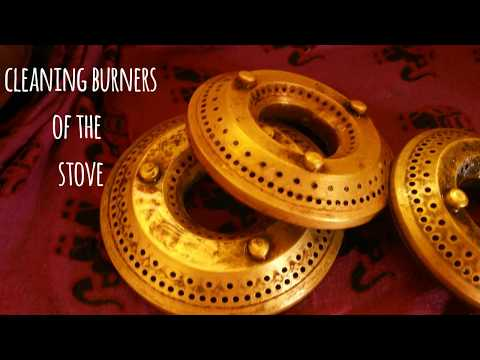 Cleaning of gas stove burners.