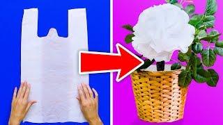 18 PLASTIC BAG HACKS AND IDEAS