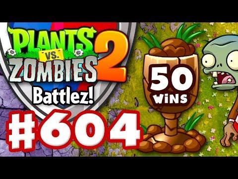 BATTLEZ! 50 Wins! Soil League! - Plants vs. Zombies 2 - Gameplay Walkthrough Part 604