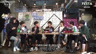 [ENG SUB] BTS Dinner Party - Yoongi Says I Love You to Taehyung (ft. jealous members)