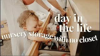 FOLDING & STORING BABY CLOTHES IN ONE DRESSER | DAY IN THE LIFE OF A PREGNANT TODDLER MOM