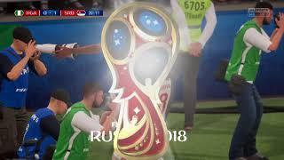 FIFA 18 RUSSIA World Cup  ONLINE Serbia   Nigeria 1/4 final game   Goal NEMANJA  MATIC 1: 0  PS4