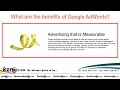 The benifits of Google Adwords
