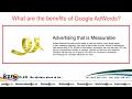 The benifits of Google Adwords