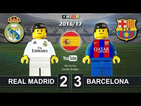 REAL MADRID vs BARCELONA 2-3 • El Clasico • LaLiga 2016 / 2017 ( Film Lego Football ) ElClasico
