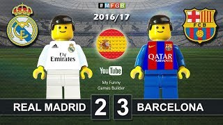 REAL MADRID vs BARCELONA 2-3 • El Clasico • LaLiga 2016 / 2017 ( Film Lego Football ) ElClasico