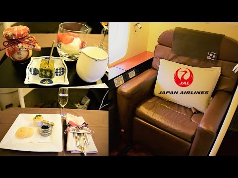 Japan Airlines First Class 777 Tokyo Narita to New York JFK