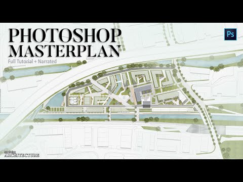 Architecture / Urbanism Master Plan Rendering in Photoshop / Narrated Full Tutorial thumbnail