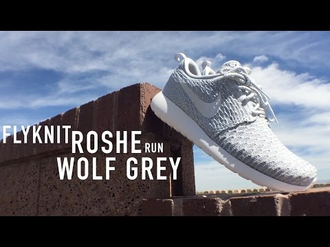 WMNS Flyknit Roshe Run Review & On Feet | Wolf Grey
