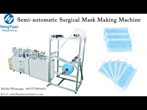 Semi-automatic Surgical Mask Making Machine | Mask Forming Equipment