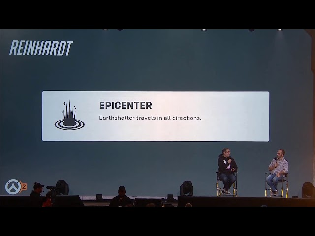 BlizzCon 2019 Overwatch 2 - Reinhardt's Epicenter Talent
