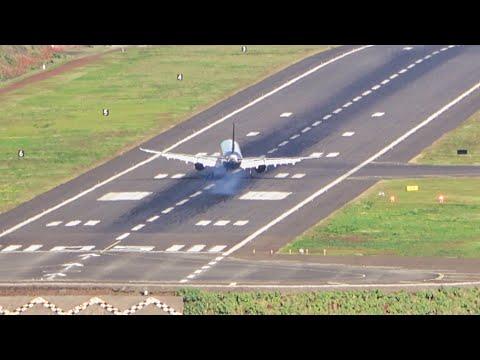 4 BEAUTIFUL Back View Landings At Madeira Airport