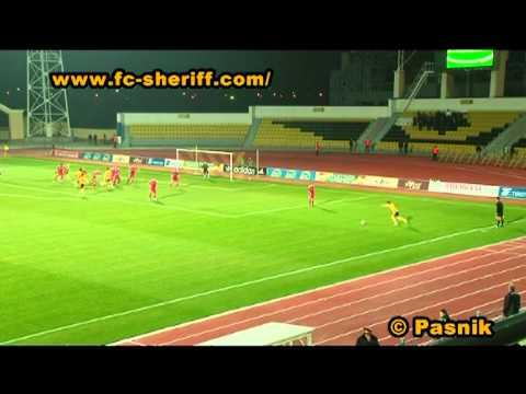 Голы матча  ФК Шериф 3 : 1 ФК Тирасполь,  22 -10 -2011