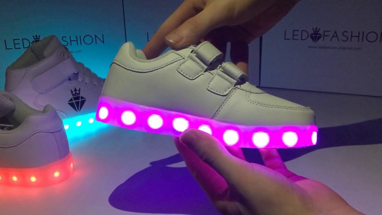 Svítící boty - LEDFASHION (Led light shoes) - Unboxing - YouTube e9070a0272