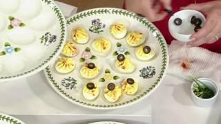 Portmeirion Botanic Garden Egg Tray on QVC