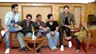 Golmaal Again FUNNY Moments With Reporter Bharti Dubey - Ajay Devgn,Arshad Warsi,Shreyas,Tusshar