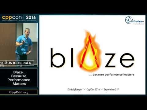 "CppCon 2016: Klaus Iglberger ""The Blaze High Performance Math Library"""