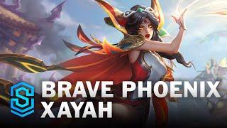 Brave Phoenix Xayah Skin Spotlight - League of Legends