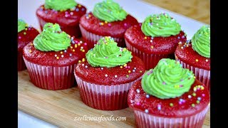 HOW TO MAKE HOMEMADE RED VELVET CUPCAKES WITH BUTTER CREAM FROSTING - ZEELICIOUS FOODS