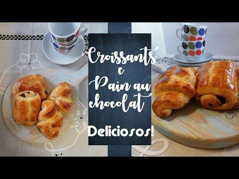 CROISSANTS E PAIN AU CHOCOLAT | Os autênticos, franceses e deliciosos