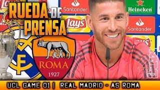 Real Madrid - AS Roma Rueda de prensa de SERGIO RAMOS Champions (18/09/2018)
