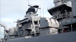 Battleship USS Wisconsin - Short HD Video Tour - Norfolk Virginia, USA